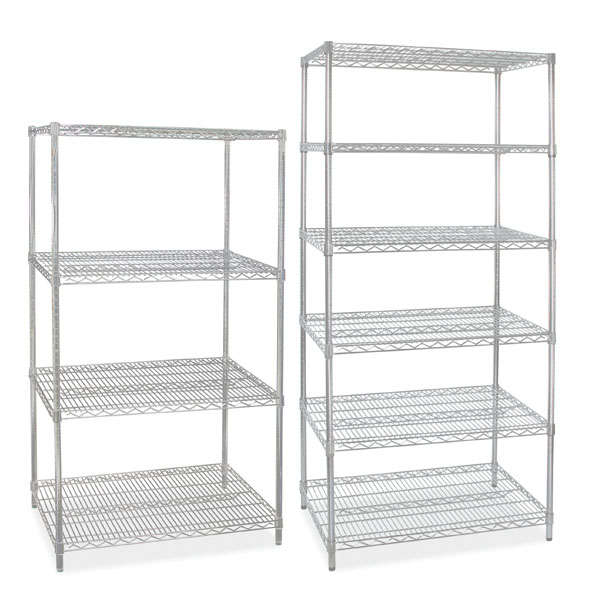 74 In High Wire Shelving Rack With 6 Shelves