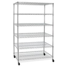 Wire Rack With 6 Shelves And Casters