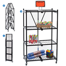 36 Inch Wide Heavy Duty Folding Storage Rack