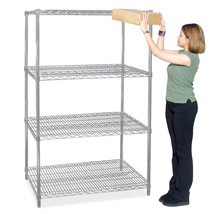 4 Shelf Wire Shelving Rack - 48 In. W X 24 In. D X 74 In. H