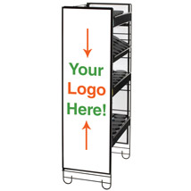 Side Sign Holder for Heavy Duty Shelving Unit