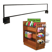 Slatwall Gondola Sign Holder - 44 In. Wide X 7 In. High