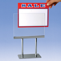 Acrylic Sign Holder With Chrome Base