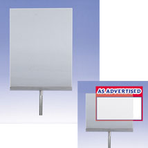 Acrylic Sign Holders For 3/8 In. Threaded Stem