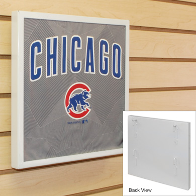 T Shirt Display Frame For Slatwall - White