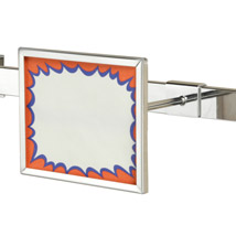 Chrome Hangrail Sign Holder - 7 In. Wide X 5 1/2 In. H
