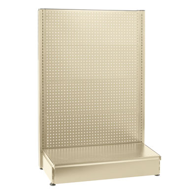 48 In. W X 54 In. H Sahara Beige Single Sided Gondola With Pegboard Back