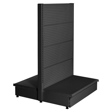 54 In. H Black Matte Double Sided Starter Gondola Shelving Display