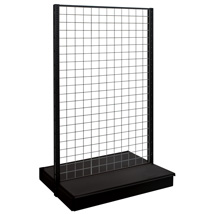 48 In. W X 54 In. H Black Matte Double Sided Gondola With Grid Back