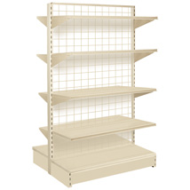48 In. W X 54 In. H Sahara Beige Double Sided Gondola With Grid Back
