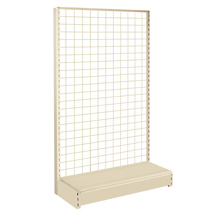 84 In. H Sahara Beige Double Sided Starter Gondola Display With Grid Back