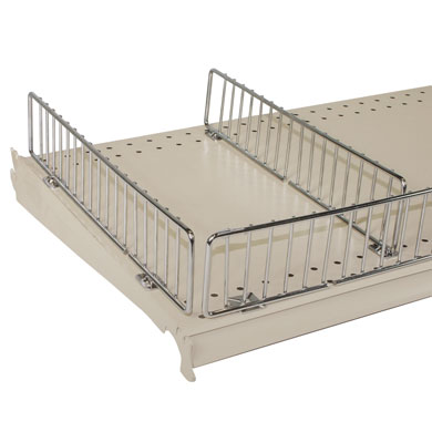 Chrome 16 In. Gondola Shelf Side Fencing