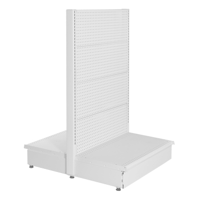48 In. W X 54 In. H White Double Sided Gondola With Pegboard Back