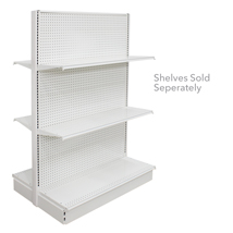 72 In. H Pearl White Double Sided Starter Gondola Shelving Display