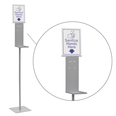 Automatic Hand Sanitizer Dispenser With Stand And 8.5 X 11 Sign