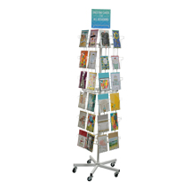 48 Pocket Floor Standing Greeting Card Spinner Display - White