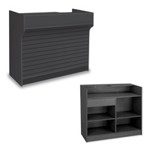 48 In. Ledgetop Counter With Slatwall Front