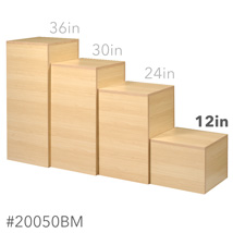 12 In. H Maple Cube Pedestal Display