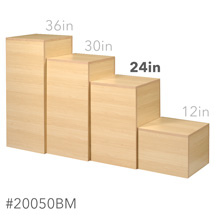 24 In. H Maple Cube Pedestal Display