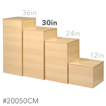 30 In. H Maple Cube Pedestal Display