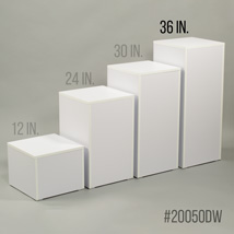White 36 In. H Cube Pedestal Display
