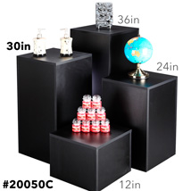 Black Laminate Pedestal Display - 30 In. High
