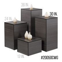 30 In. H Laminated Wood Pedestal Display - Willow Gray