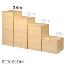 Maple Laminate Pedestal Display - 36 in. High