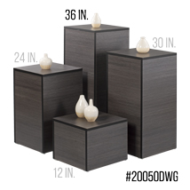 36 In. H Laminated Wood Pedestal Display - Willow Gray