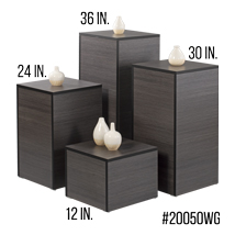 Laminated Wood Display Pedestal Set - Willow Gray