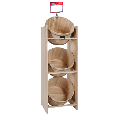 3 Bushel Barrel Display