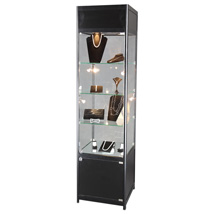 Lighted Black Tower Display Case