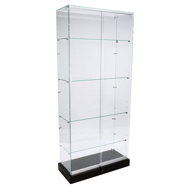 Frameless Glass Tower Display Case - 36 X 80 Inches Tall
