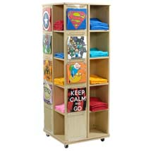 Revolving T Shirt Display With Casters