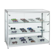 Aluminum Frame Led Spotlight Display Case - Ships Assembled