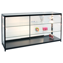 Assembled Lighted Display Case - 70 In. Wide