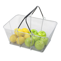 Silver Mesh Shopping Baskets Set Of 12
