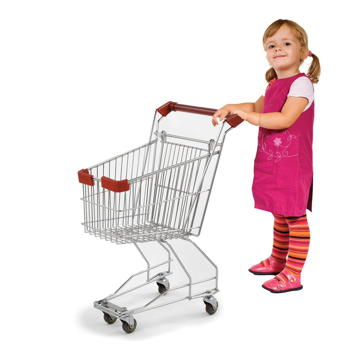 Realistic Child Sized Metal Grocery Shopping Cart