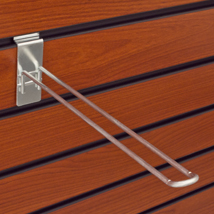 Chrome Slatwall Safety Peg Hooks