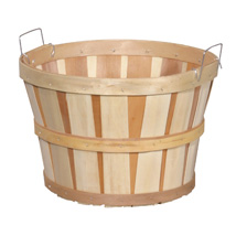 1/2 Bushel Wood Basket Farm Display