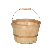 1/2-Peck Natural Wood Basket Farm Display