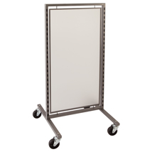Di Simo Single Display With Frosted Panels And Casters