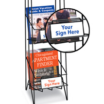 Custom Self Adhesive Sign -  2.5 In. H X 6 In. W - 3 Pack