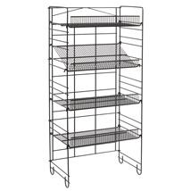 Heavy Duty SHELVING Merchandiser Rack with 4 Adjustable Angle Shelf