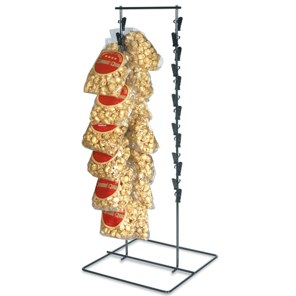 Black Countertop Double Clip Candy Display