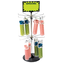 Chrome 20 Peg 2-Tier Countertop Spinner