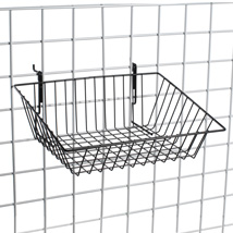 Black Gridwall Basket 15 In. W X 12 In. D X 3 - 6 In. H