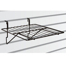 Black Straight Shelf For Slatwall - 11 In. W X 11 In. L
