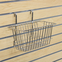Chrome Wire Basket For Slatwall - 12 In. W X 6 In. D X 6 In. H