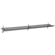 Black Heavy Duty Grid Wall Shelf - 6 in. W x 48 in. L
